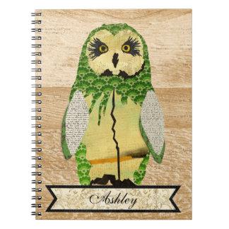 Gypsy Jade Owl Personalized Notebook