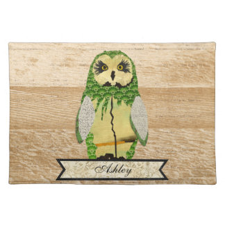 Gypsy Jade Owl Personalized Placemat
