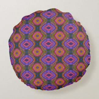 Gypsy Medallion Batik Tie-Dye Reversible Pillow