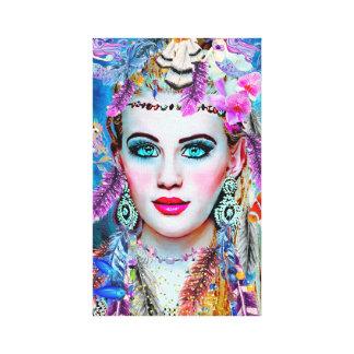 Gypsy Mermaid, Wall Art, Fantacy Art, Mermaid Canvas Print