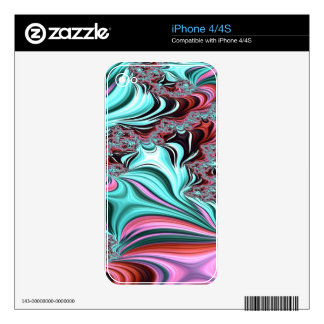 Gypsy Moire Fractal 3 iPhone 4 Decal
