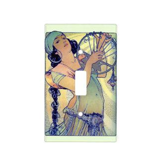 Gypsy Music Woman Mucha Art Nouveau Light Switch Cover