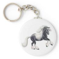 Gypsy Paint Horse Keychain