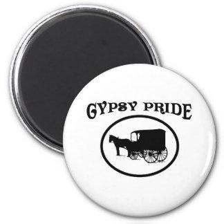Gypsy Pride Black & White Caravan 2 Inch Round Magnet