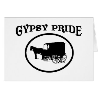 Gypsy Pride Black & White Caravan Card