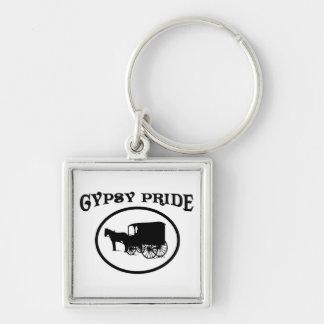 Gypsy Pride Black & White Caravan Keychain