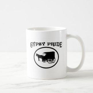 Gypsy Pride Black & White Caravan Classic White Coffee Mug