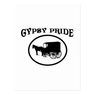 Gypsy Pride Black & White Caravan Postcard