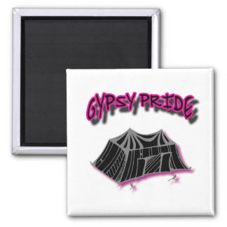 Gypsy Pride Camp Pink 2 Inch Square Magnet