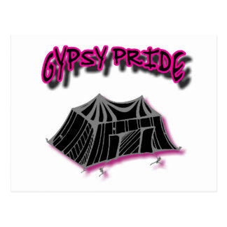 Gypsy Pride Camp Pink Postcard