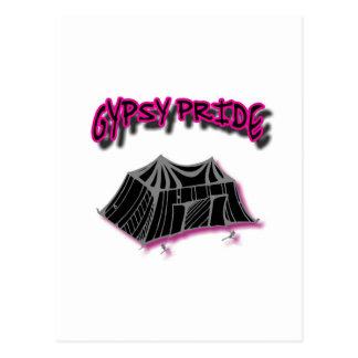 Gypsy Pride Camp Pink Postcard