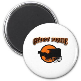 Gypsy Pride Traditional Caravan 2 Inch Round Magnet