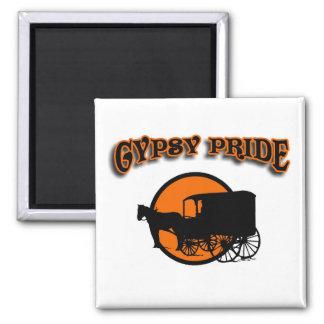 Gypsy Pride Traditional Caravan 2 Inch Square Magnet