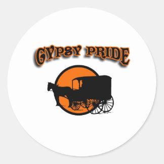 Gypsy Pride Traditional Caravan Classic Round Sticker