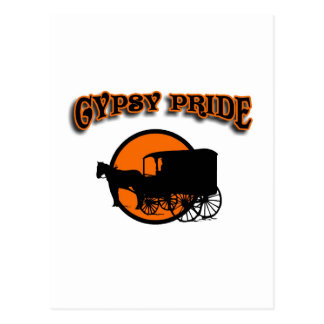 Gypsy Pride Traditional Caravan Postcard