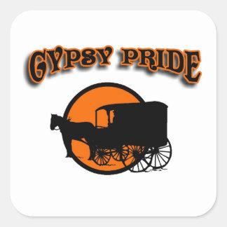 Gypsy Pride Traditional Caravan Square Sticker