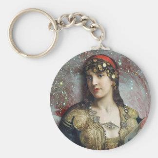 Gypsy Princess, altered art Keychain