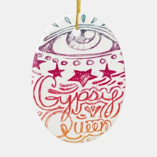 Gypsy Queen Rainbow Ceramic Ornament