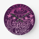 Gypsy Queen Round Wall Clock
