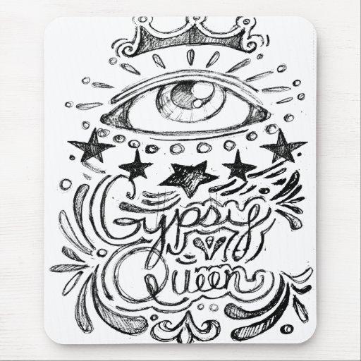 Gypsy Queen Sketch Mousepad