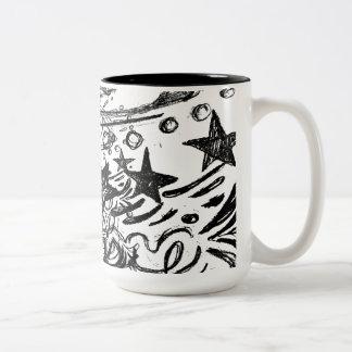 Gypsy Queen Sketch Two-Tone Coffee Mug