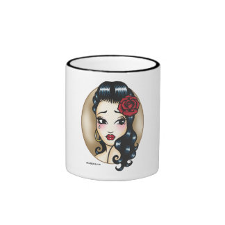 'Gypsy Rose' Ringer Coffee Mug