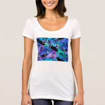 Gypsy Soul Tee Shirt with Feathers