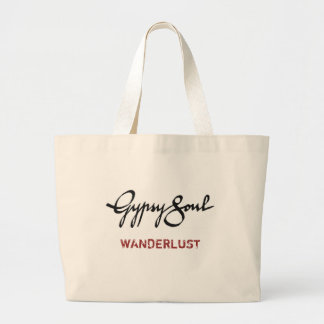 Gypsy Soul tote: WANDERLUST Large Tote Bag