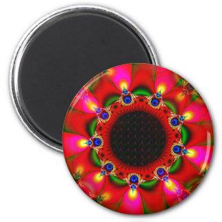 Gypsy Sunflower 2 Inch Round Magnet
