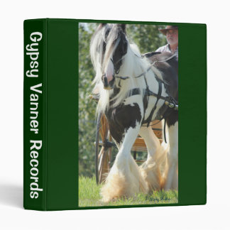 Gypsy Vanner 3 Ring Binder