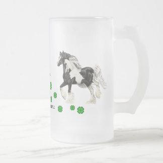 Gypsy Vanner, an Irish treasure 16 Oz Frosted Glass Beer Mug