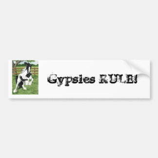 Gypsy Vanner at play Horse Art Bumper Sticker