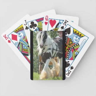Gypsy Vanner Bicycle Playing Cards