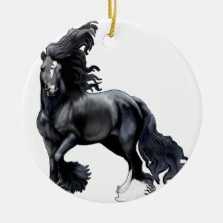 Gypsy Vanner BlackJack Ceramic Ornament
