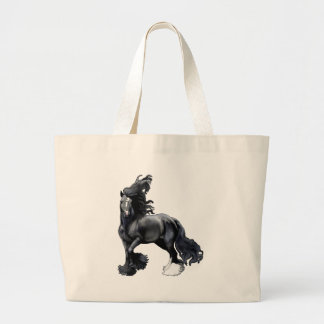 Gypsy Vanner BlackJack Large Tote Bag