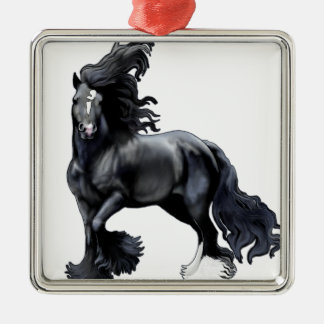 Gypsy Vanner BlackJack Metal Ornament