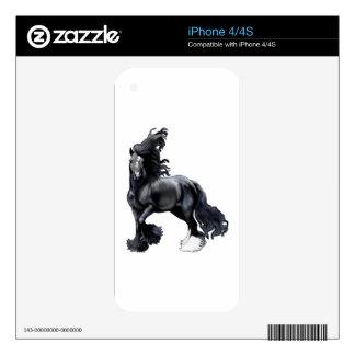 Gypsy Vanner BlackJack Skin For iPhone 4S
