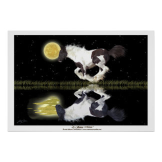 Gypsy Vanner Cantering Horse Fantasy Art Poster