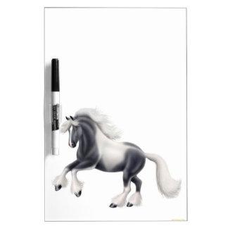 Gypsy Vanner Cob Horse Dry Erase Board