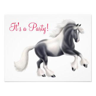 Gypsy Vanner Cob Horse Invitation