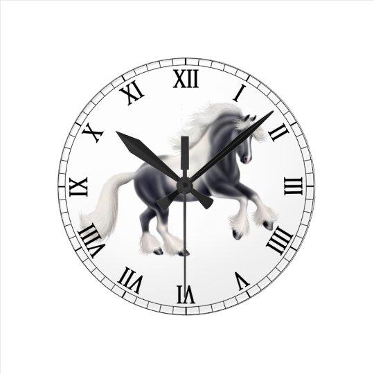 Gypsy Vanner Cob Horse Wall Clock