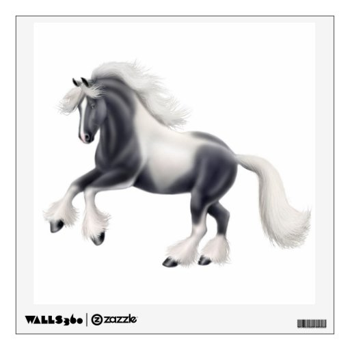 Gypsy Vanner Cob Horse Wall Decal