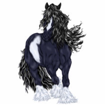 Gypsy Vanner Draft Horse Statuette