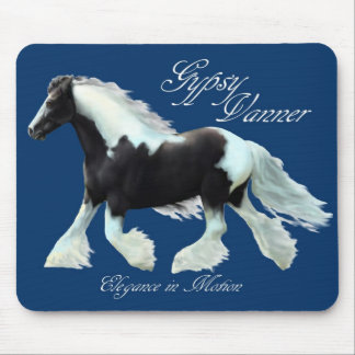 Gypsy Vanner, elegance in motion Mouse Pad