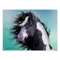 Gypsy Vanner Horse 16 x 12 Poster
