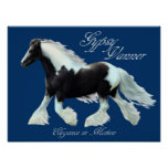 Gypsy Vanner horse , Elegance in motion Poster