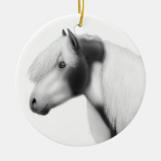 Gypsy Vanner Horse Holiday Ornament