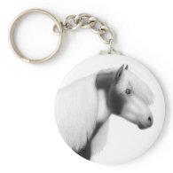 Gypsy Vanner Horse Keychain