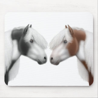 Gypsy Vanner Horse Love Mouse Pad