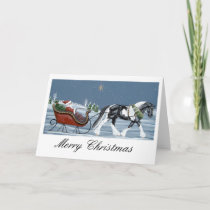 Gypsy Vanner Horse Merry Christmas Holiday Card